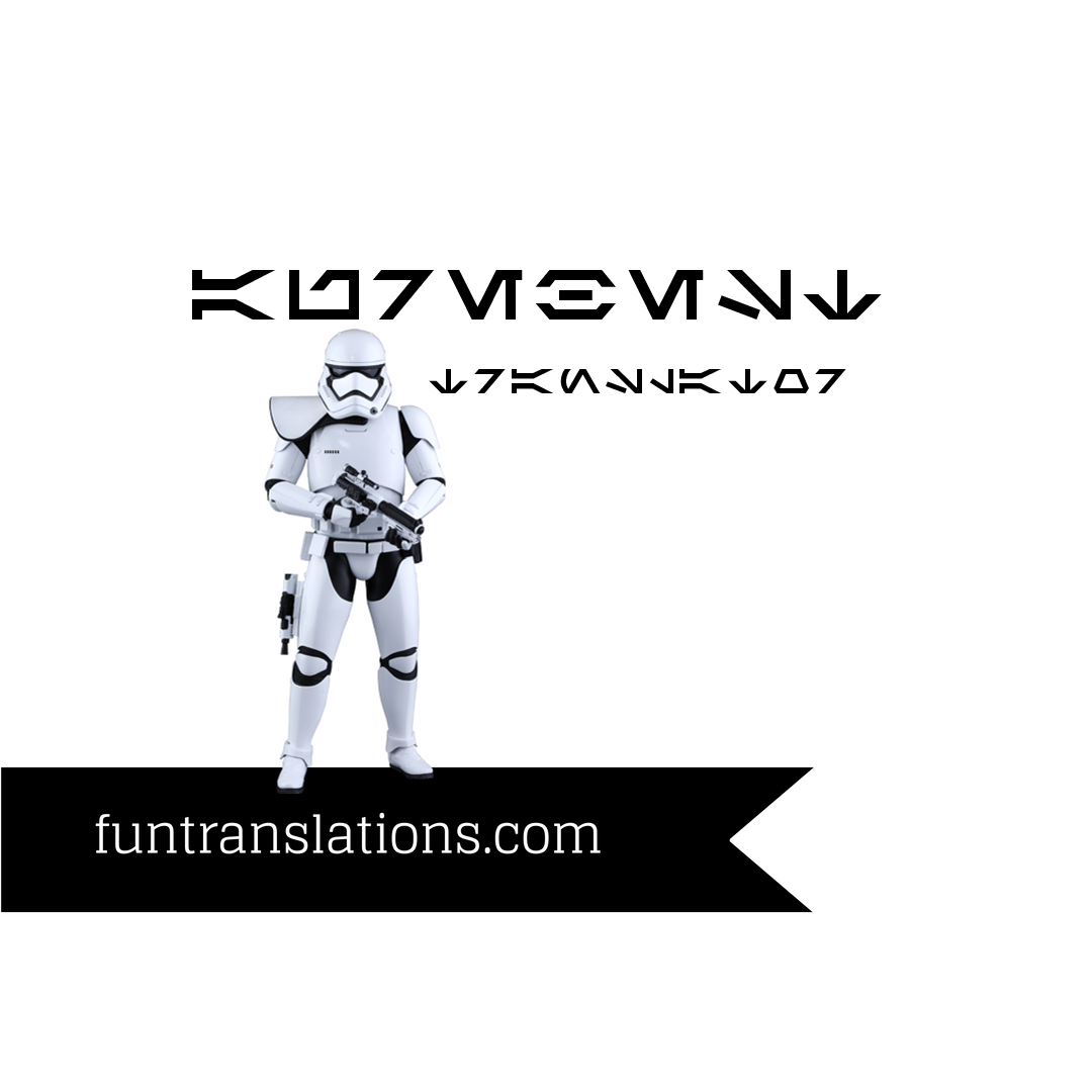 Aurebesh Translator