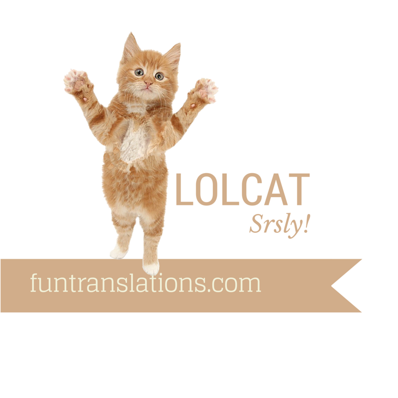 LOLCat translator