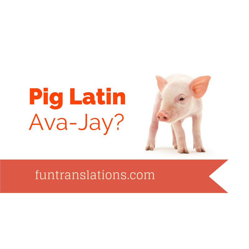 how to write in pig latin For today's intermediate algorithm scripting, we will create a function that will convert english words to pig latin i don't even know how to explain pig latin so i give you a wikipedia definition.