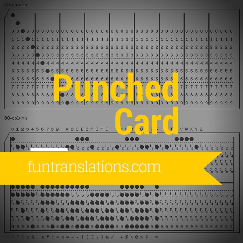 BCD / Punched Card Translator