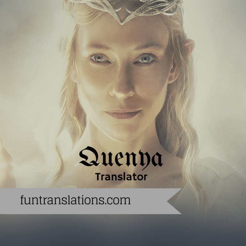 Quenya translator