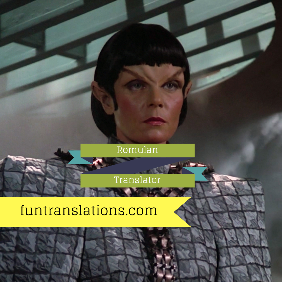 Romulan translator