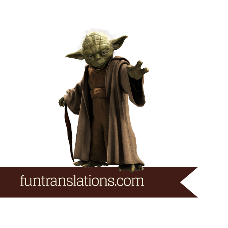 Yoda Speak translator
